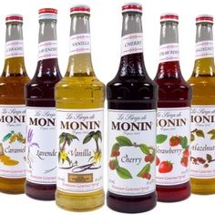 Monin Premium Flavored Syrups Glass Bottles for Coffee Soda and more! - Bottle - Ideas of Bottle - Monin Premium Flavored Syrups Glass Bottles for Coffee Soda and more! Sangria, Smoothie Drinks, Smoothies, Smoothie Recipes, Soda Italiana, Coffee Cocktails, Coffee Syrups, Soda Syrup, Cocktail Syrups