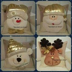Risultati immagini per cojines para navidad con moldes Felt Crafts, Diy And Crafts, Christmas Crafts, Christmas Ornaments, Christmas Cushions, Christmas Pillow, All Things Christmas, Christmas Holidays, 242