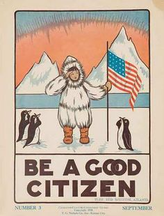 Character-Culture-Citizenship Guides Number 3 Vintage Poster