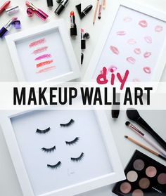 Diy Home Decor Projects : Diy Makeup Beauty Prints Make Up Wall . DIY home decor projects : DIY Makeup Beauty Prints make up wall makeup diy crafts - Makeup Diy Crafts Diy Crafts Makeup, Diy And Crafts, Diy Tumblr, Diy Makeup Vanity, Makeup Storage, Vanity Organization, Diy Home Decor Projects, Diy Room Decor, Art Decor
