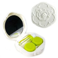 Rose Compact Contact Lens Travel Kit (White) by JAVOedge Home