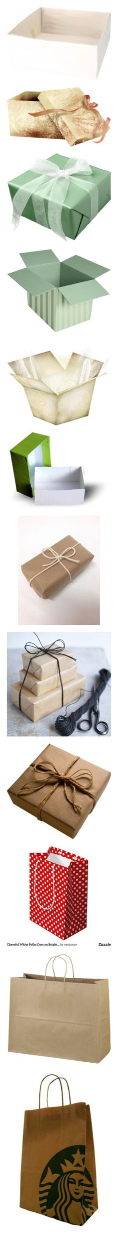 """""""Gift/ Shopping Bags"""" by kbarkstyle ❤ liked on Polyvore featuring presents, boxes, christmas, fillers, gifts, filler, green, decor, bags and objects"""