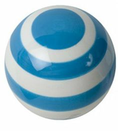 Turquoise & white Striped Ceramic Drawer Pull by Berryware, http://www.amazon.com/dp/B0032GW15G/ref=cm_sw_r_pi_dp_Mt53rb0WNFFVK