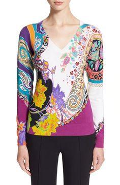 ETRO Paisley Stretch Silk Sweater. #etro #cloth #