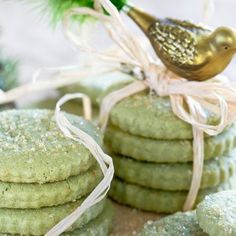 RECIPE: Matcha Green Tea Shortbread Cookies