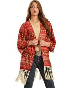 R Cinco Ranch Womens Anna Kimono: Made of 100% polyester in vibrant southwest print. 3/4-lenth wide… #USAOnlineShopping #USAShopping