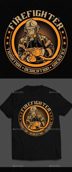 Firefighter TShirt Design — Vector EPS #clothing #flame • Available here → https://graphicriver.net/item/firefighter-tshirt-design/19893191?ref=pxcr