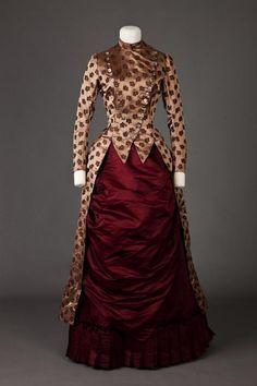 Dress. 1885 - 1886. | Goldstein Museum Of Design | gdfalksen.com