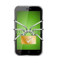 Vektor: smartphone sicher save