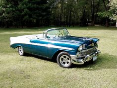 56' Chevy BelAir.sweet ride but to Me would look even sweeter with white wall tires