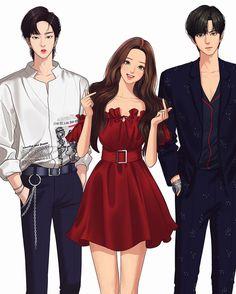 Webtoon - True Beauty/by: Yaongyi Anime Couples, Cute Couples, Webtoon Comics, Lookism Webtoon, Jamie Hewlett, Handsome Anime, Anime Art Girl, Looks Cool, True Beauty