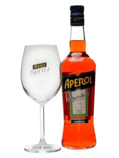 Aperol is a low-strength aperitif made since 1919 to a secret recipe including both rhubarb and orange along with a wide assortment of herbs and roots.  Immensely popular in Italy, its home country.