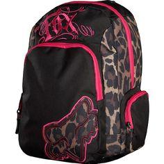 Leopard print Fox Girls backpack. I want!