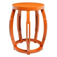 Taboret Stool Side Table in Orange