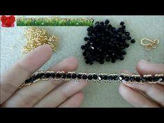 楽しいビーズアクセサリー:シンプル ダイヤモンド ブレスレット - YouTube