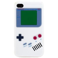 Nintendo Game Boy Gameboy Silicone Case For iPhone 4 4G white (2.47 AUD) ❤ liked on Polyvore featuring accessories, tech accessories, phone cases and electronics