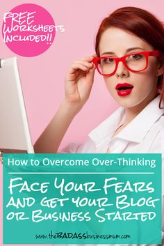 Face your fears and get your blog or business started! Click through and download the Free worksheets included to help you get prepared and organised to boost your confidence and start the way you mean to carry on!
