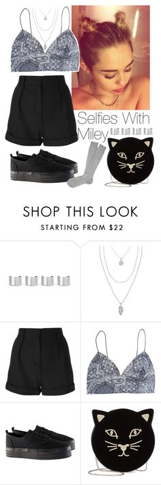 """""""Selfies with Miley"""" by lovatic92 ❤ liked on Polyvore featuring Maison Margiela, Stella & Dot, Cyrus, IRO, H&M, Charlotte Olympia, women's clothing, women, female and woman"""
