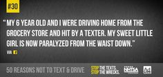 30 of 50 no texting Dont Text And Drive, Trauma Center, Distracted Driving, Text On Photo, Texting, Text Messages, Losing Me, Ads, Briefs