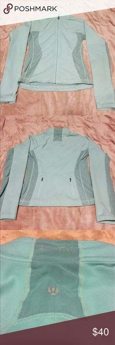 Lululemon teal jacket Lululemon jacket size 6 I believe but I can't remember, it fits like a small. In good condition, no holes or stains. lululemon athletica Jackets & Coats
