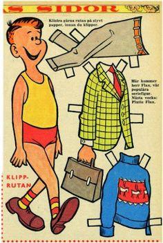 1961 Flax Family paper dolls Herr Flax / kidsapiens.com