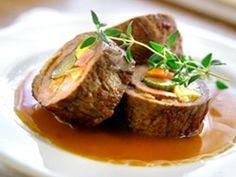 Aichingerwirt's Highland Cattle Beef Roulades - Salzkammergut Beef Roulade, Maytag Blue Cheese, Austrian Cuisine, Roasted Walnuts, Austrian Recipes, Polish Recipes, Polish Food, Recipe Details, Food Presentation