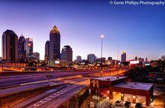 Atlanta from the 17th Street Bridge. Photo by Gene Phillips Photography.