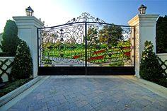 Gated entrance idea.