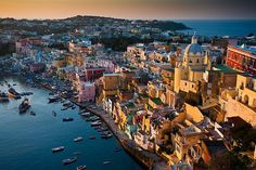 Corricela - Bay of Naples. Procida Island