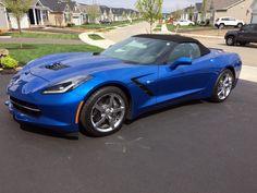 2014 Convertible 2lt Laguna Blue 2014 Laguna Blue Corvette Convertible For Sale In Ohio Please Visit Usedcorvet Laguna Blue 2014 Corvette Corvette Convertible