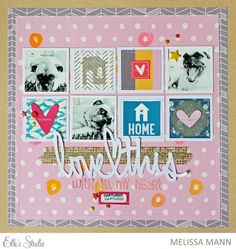 Love This scrapbook layout by Melissa Mann using the new October 2015 kit from Elle's Studio, along with the Thankful collection