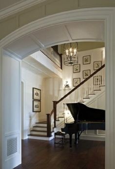 A grand piano in your front entry - grand indeed!