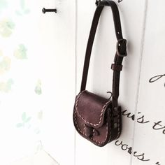 Real Leather:doll/ Shoulder bag/Dark brown color/ by Amabiledoll