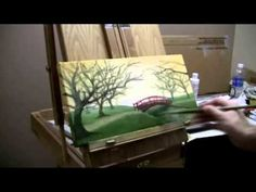 Free Painting Lessons - Cherry Blossom Bridge - Commentary by Acrylic Artist Brandon Schaefer