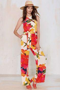 d0414ce1e9dc Yumi Kim Joyce Silk Jumpsuit Date Outfits
