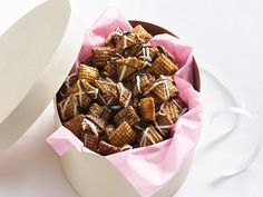 Caramel and Chocolate drizzled Chex