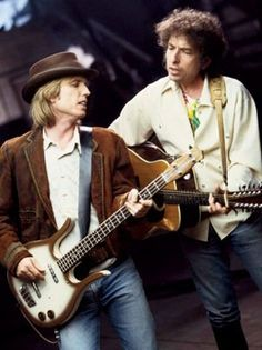 Tom Petty and Bob Dylan (Traveling Wilburys years)