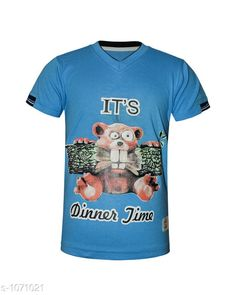 Tshirts & Polos Trendy Cotton Knitted Boy's T-shirt  *Fabric* Cotton Knitted  *Sleeves* Half Sleeves Are Included  *Size* Age Group (2 - 3 Years) - 20 in Age Group (3 - 4 Years) - 22 in Age Group (5 - 6 Years) - 24 in Age Group (7 - 8 Years) - 26 in Age Group (9 - 10 Years) - 28 in Age Group (10 - 11 Years) - 30 in Age Group (11 - 12 Years) - 32 in Age Group (12 - 13 Years) - 34 in  *Type* Stitched  *Description* It Has 1 Piece Of  Boys T-Shirt.  *Work* Printed  *Sizes Available* 2-3 Years, 3-4 Years, 5-6 Years, 7-8 Years, 8-9 Years, 9-10 Years, 10-11 Years, 11-12 Years, 12-13 Years *    Catalog Name: Doodle Trendy Cotton Knitted Boy's T-shirts Vol 2 CatalogID_131036 C59-SC1173 Code: 091-1071021-