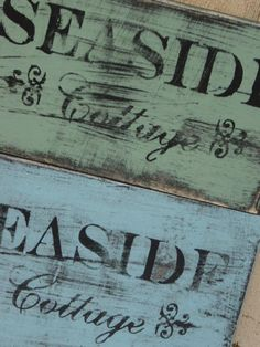 SHABBY SEASIDE COTTAGE sign / shabby cottage by sophiescottage, $12.00