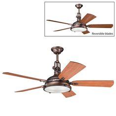 Kichler Lighting 300018 4 Light Hatteras Bay Ceiling Fan - ATG Stores