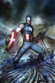 #Captain #America #Fan #Art. (Captain America Living Legend #4 (of 4 Cover) By: Adi Granov.