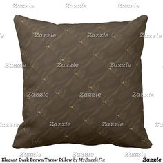 Elegant Dark Brown Throw Pillow