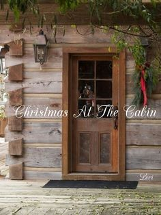 Il can picture doing this to a back porch.the wood, fake beams, wood trim.~FARMHOUSE – vintage early american farmhouse in historic new england. Cabin Doors, Cabin In The Woods, American Farmhouse, Modern Farmhouse, Farmhouse Style, Log Cabin Homes, Log Cabins, Mountain Cabins, Log Cabin Exterior