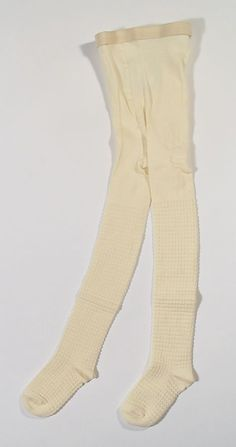 Charabia FAUSTINE Ribbed Tights in Ivory