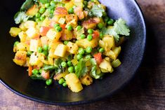 Indian-Spiced Potatoes and Peas with Chilies and Ginger from Christopher Kimball's Milk Street Mexican Food Recipes, Vegetarian Recipes, Ethnic Recipes, Indian Recipes, Keto Recipes, Potato And Pea Curry, Lentil Hummus, Nytimes Recipes, Potato Side Dishes