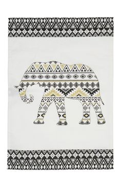 Primark - Elephant Print Tea Towel