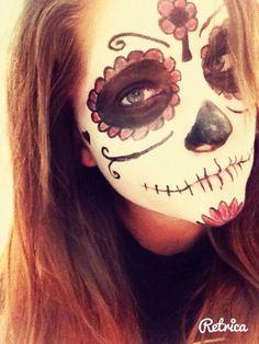 Sugar skull Halloween makeup by me :) #halloween