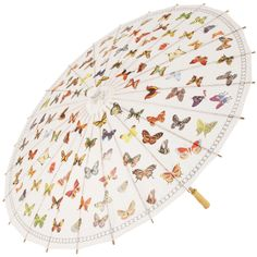 Butterfly Flurry Chinese Paper and Bamboo Parasols - Brolliesgalore