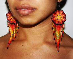 Size: The diameter of each earring is approx. 1.5 The total hang of each earring is approx. 4.5 ***Every order and customer is treated with the highest regard. Please see our review section here: https://www.etsy.com/your/shops/BiuluArtisanBoutique/reviews?ref=shop_info Item