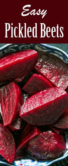 A midwestern classic—pickled beets! Our favorite refrigerator pickled beets, roasted or boiled beets, marinated in a cider vinegar vinaigrette. #beets #pickles #pickledbeets